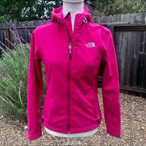 The North Face Fuchsia Hooded Jacket - Size XS